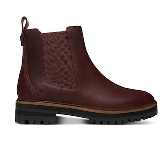 Timberland London Square Chelsea Dam Burgundy Full Grain Stl: 37 1/2