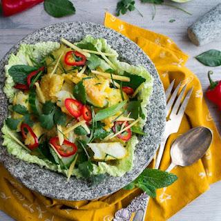 Authentic Thai Fish Salad.