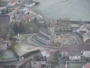 Photo: L'église de montrond vue d'avion le 26/12/2009