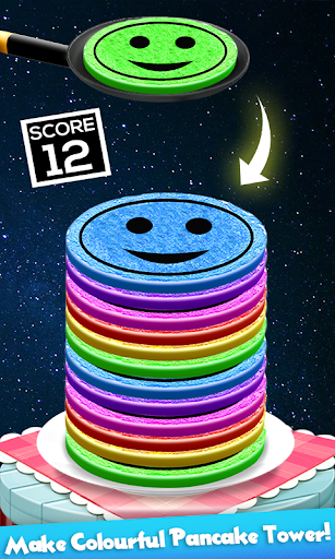 Code Triche Rainbow Pancake Towers - Pile Up Breakfast Game APK MOD screenshots 2
