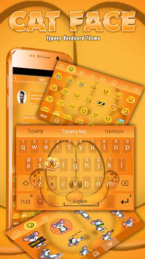 mod Cat Face Theme&Emoji Keyboard 4.5 screenshots 1