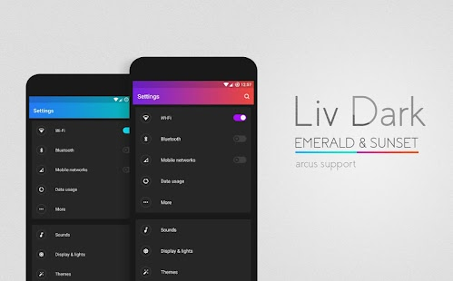 Liv Dark - CM13/12.1 Theme Screenshot