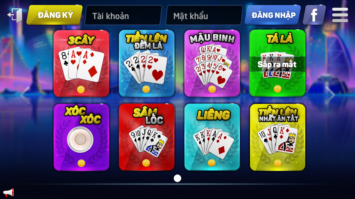 Game danh bai- screenshot