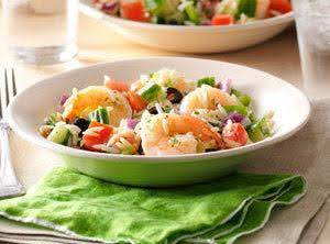 Garlic Shrimp & Orzo Salad Recipe