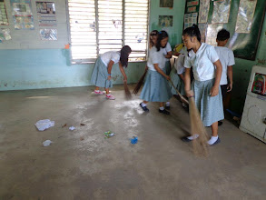 Photo: Cleaning out old classroom