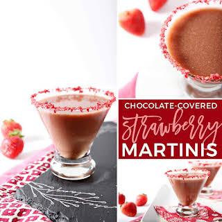 Skinny Chocolate-Covered Strawberry Martinis.