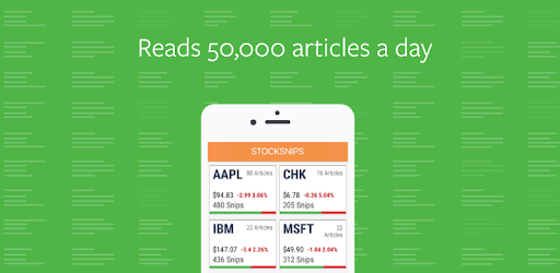 Stocksnips reads 50,000 articles and delivers stock news sentiment for companies