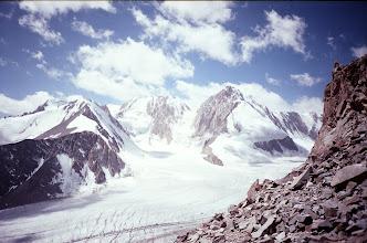 Photo: Ak-Tash Pass (view to Uzbekistan peak, Dugoba glacier)
