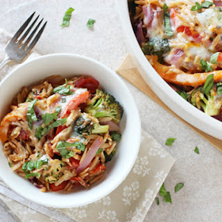 Cheesy Broccoli and Pepper Baked Orzo.