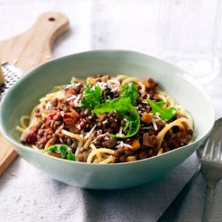 Puy Lentil Bolognese with Pasta Recipe