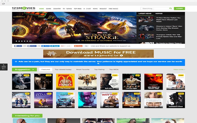 123Movies - Watch Favourite Movies Online - Chrome Web Store