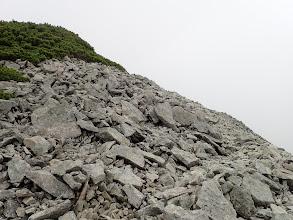 ゴーロの登りに