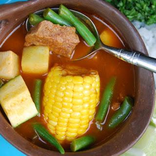 Beef and Veggie Mole Stew.