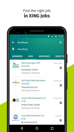 XING – Your jobs and careers network screenshot