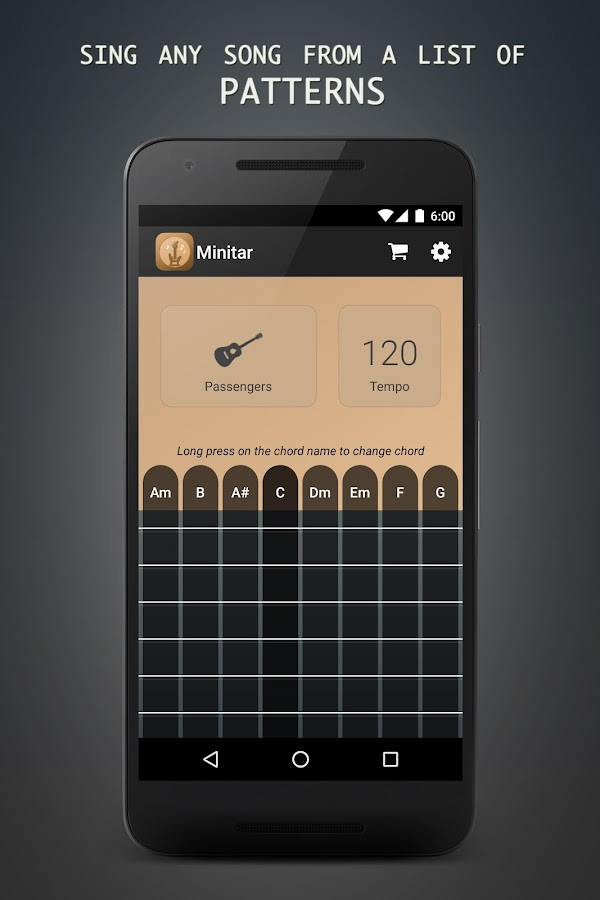 Minitar - Acoustic Guitar App- screenshot