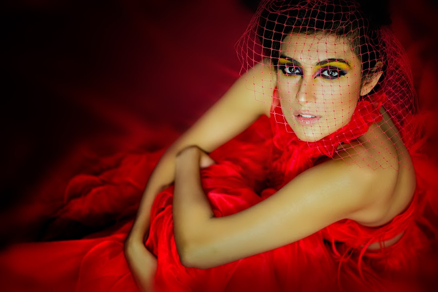 Nikita Sachdev - Red by Gian Mark Quidasol - People Portraits of Women