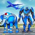 Elephant Robot Car Robot Games icon