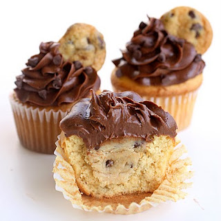 Cookie Dough Stuffed Cupcakes.