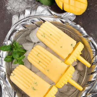 Creamy Minty Mango Popsicles