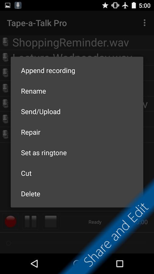 Tape-a-Talk Pro Voice Recorder- screenshot