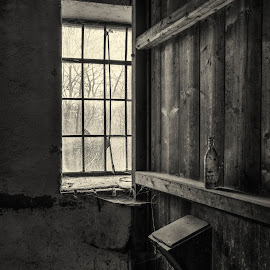 Old office by Klaus Müller - Black & White Objects & Still Life ( black and white, abandoned,  )