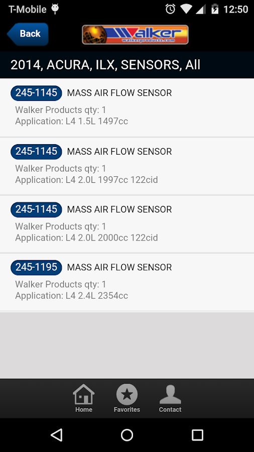 Walker Products- screenshot