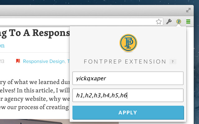 FontPrep Extension