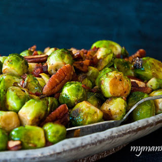 Pecan Pancetta Pan Roasted Brussels Sprouts