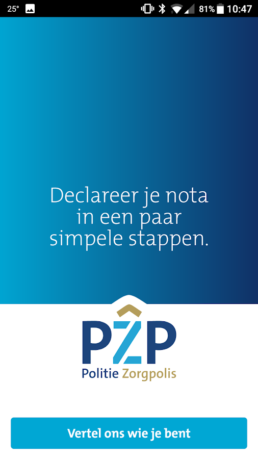 PZP Declareren- screenshot