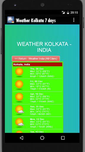 Weather Kolkata India  screenshots 1