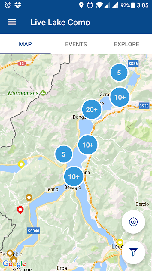 Live Lake Como- screenshot
