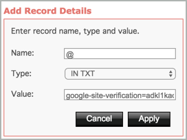 Add Record Details pane completed