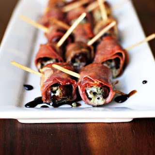 Prosciutto Wrapped Gorgonzola Stuffed Dates with Honey Balsamic Drizzle Recipe