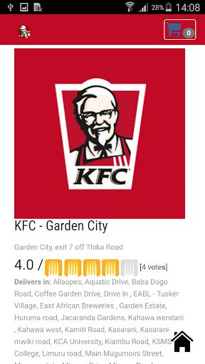 KFC Kenya App for PC