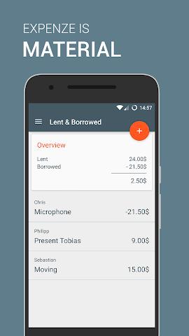 android Expenze - Ausgaben Manager Screenshot 7