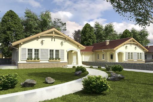 projekt Pawełek z garażem 1-st. bliźniak A-BL