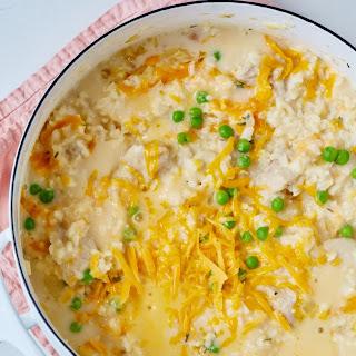 One-Pot Creamy Chicken and Rice Casserole.