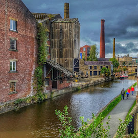 Leeds and Liverpool canal. by Phil Cookson - Uncategorized All Uncategorized ( towpath walks, industrial heritage, towpath cycling, city of bradford, saltaire )