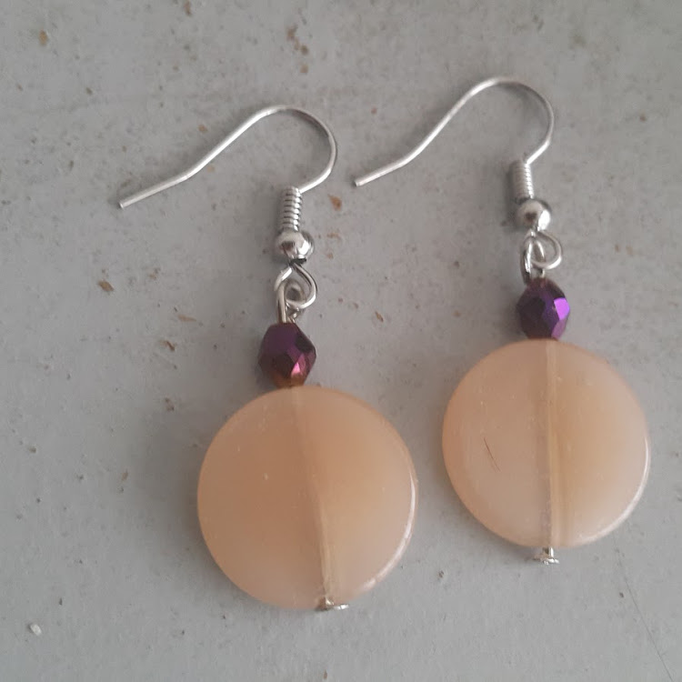 Purple Sunset Earrings by Sha's Lifestyle Store