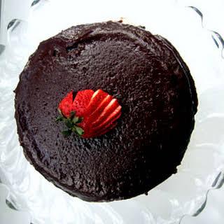 Warm Chocolate Raspberry Pudding Cake.
