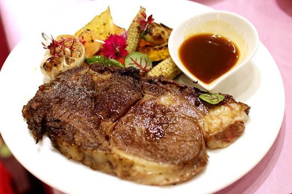 雙主菜(國王蝦+牛排)母親節套餐x蜷川實花設計藝術空間Mika廳