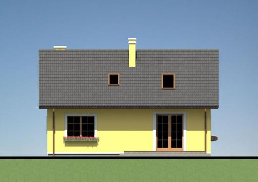 Mały dom w Chociwlu 1 - Elewacja tylna