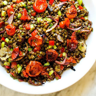 Roasted Garlic & Tomato Lentil Salad.