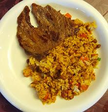 Mixed Rice & Beans with Thin-sliced Steak / Calentado con Carne Asada