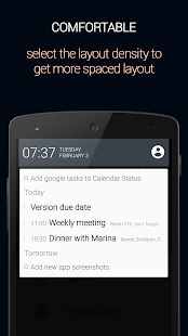 Calendar Status Screenshot