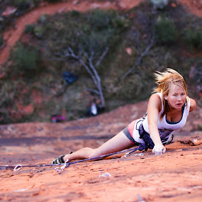 Route Finding by Ryan Skeers - Sports & Fitness Climbing ( climbing, girls, rock climbing, girls climbing, richness of it all )