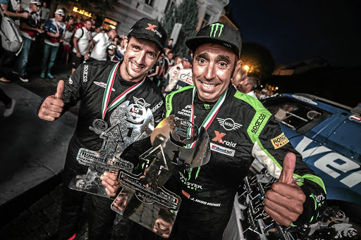 The 2018 Hungarian Baja winners, Joan 'Nani' Roma and Alex Haro of the Mini John Cooper Works Rally — X-raid Team.