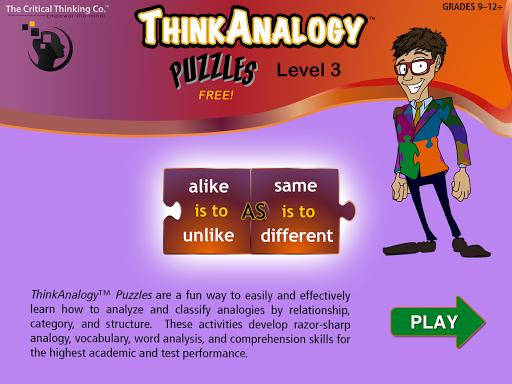 玩免費教育APP|下載ThinkAnalogy™ Puzzles 3 (Free) app不用錢|硬是要APP