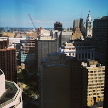 Photo: The view of Philadelphia from this week's training room