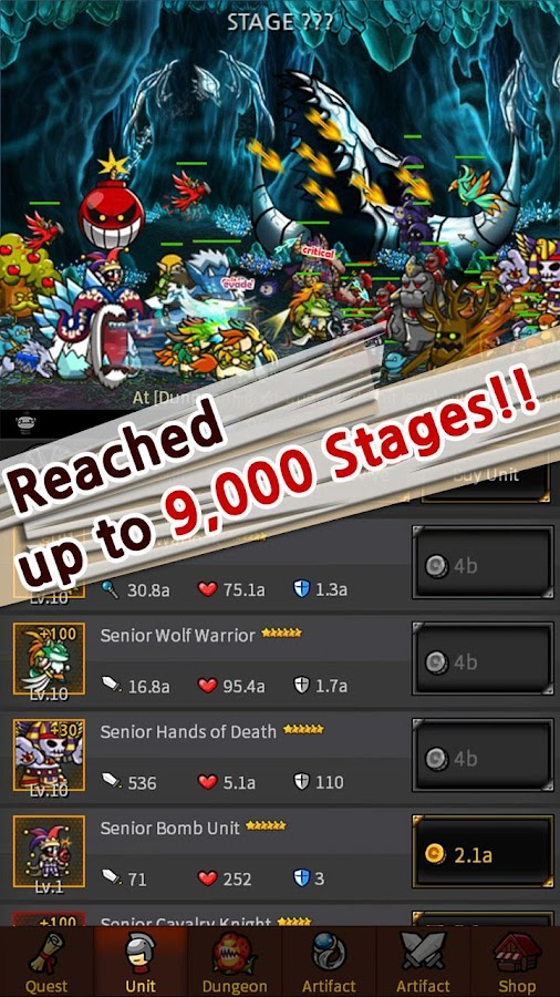 Screenshots of Endless Frontier for iPhone